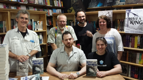 Meeting Joe Abercrombie at Harry Hartog's