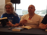 Stephen & Anthony reading at the Ticonderoga launch