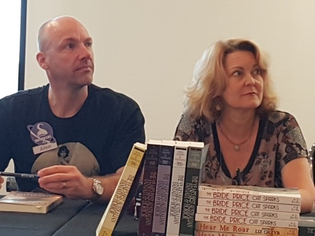 Alan & Cat at the launch of Ticonderoga's 2015 Year's Best Fantasy & Horror